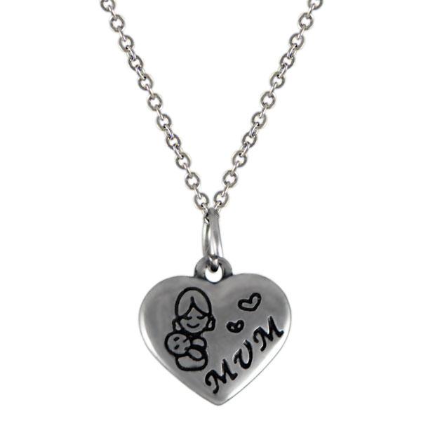 NH3288OC Srdce náhrdelník z chirurgickej ocele   Šperky Swarovski ... 80f6d8499dd