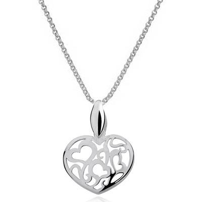 NH8135SS Srdce - strieborný náhrdelník   Šperky Swarovski ... 963441f2458