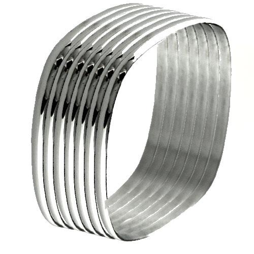 NR3281OC Sedem pevných náramkov z chirurgickej ocele   Šperky ... 516586840f8