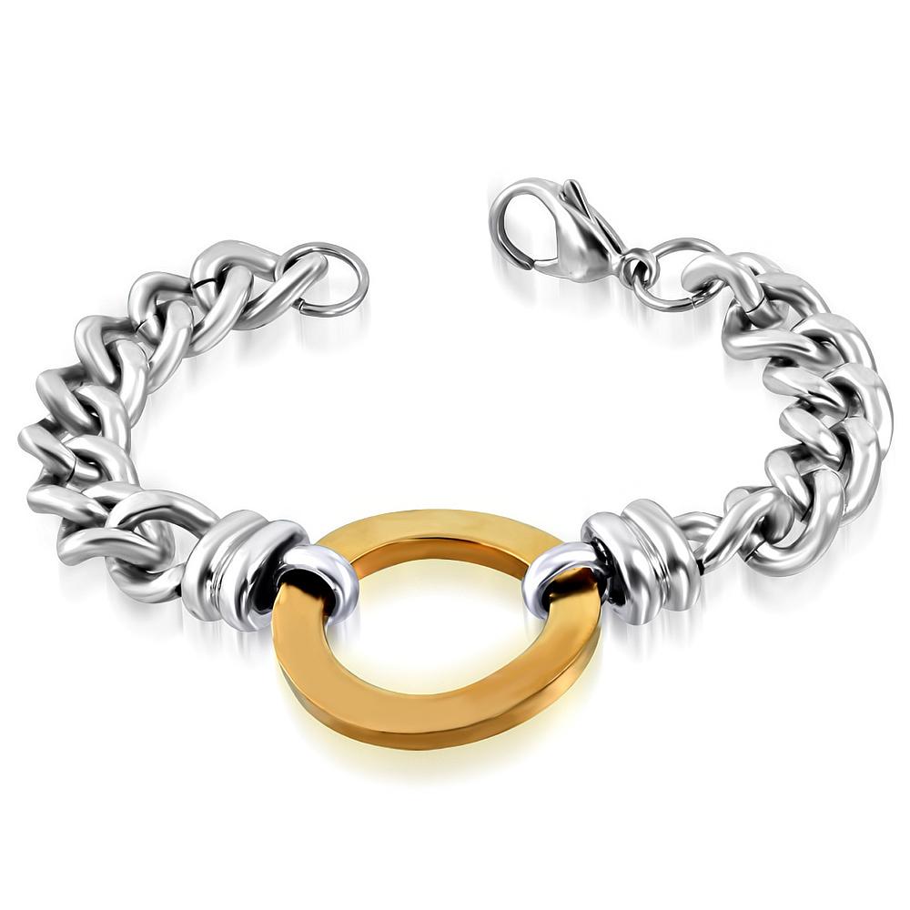 NR3333GOC Masívny náramok z chirurgickej ocele   Šperky Swarovski ... 682f4c5815d