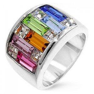 PR0001SWSSR - Strieborný prsteň so Swarovski krištálmi   Šperky ... 265bae4794d