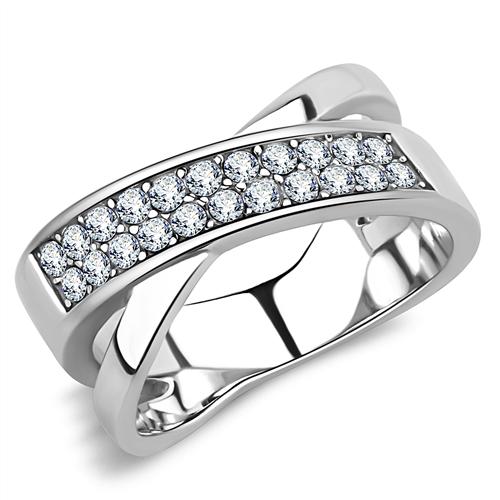 a26ca203f PR8123ZOC Prsteň z chirurgickej ocele so zirkónmi : Šperky Swarovski ...