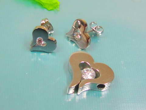 SE3132ZOC - Srdiečka - set z chirurgickej ocele   Šperky Swarovski ... 10246808a0e