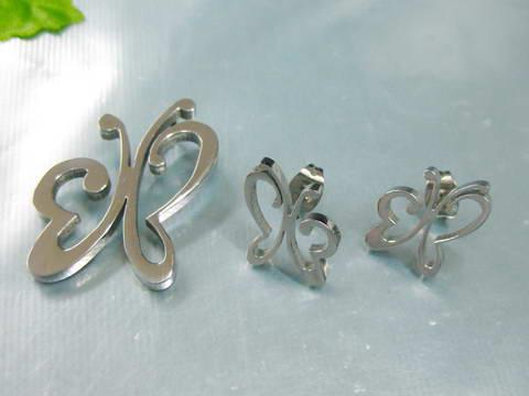 SE3136OC - Motýliky - set z chirurgickej ocele   Šperky Swarovski ... ee5f6785ef8